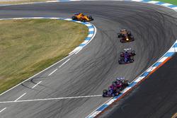 Brendon Hartley, Toro Rosso STR13, Pierre Gasly, Toro Rosso STR13, Daniel Ricciardo, Red Bull Racing RB14, y Stoffel Vandoorne, McLaren MCL33