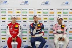 Press conference, Guanyu Zhou, PREMA Theodore Racing Dallara F317 - Mercedes-Benz, Nikita Troitskiy, Carlin Dallara F317 - Volkswagen, Jehan Daruvala, Carlin Dallara F317 - Volkswagen