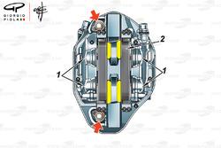 5 pistons Brembo brakes caliper