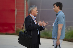 Chase Carey, Chief Executive Officer and Executive Chairman of the Formula One Group and Toto Wolff,