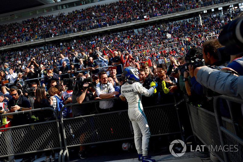 Valtteri Bottas, Mercedes-AMG F1 celebrates in parc ferme