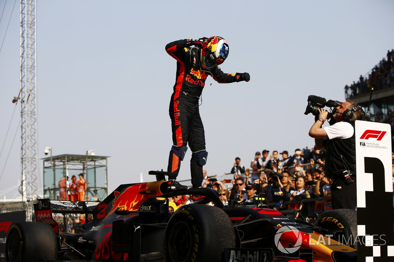 Daniel Ricciardo, Red Bull Racing, ganador de la carrera