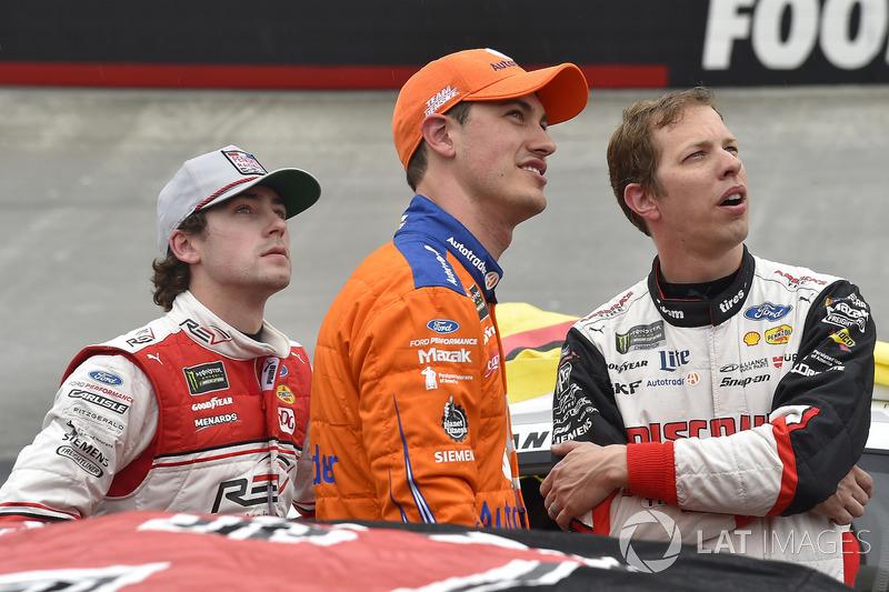Ryan Blaney, Team Penske, Ford Fusion REV, Joey Logano, Team Penske, Ford Fusion Autotrader, Brad Keselowski, Team Penske, Ford Fusion Discount Tire