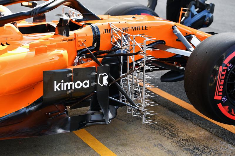 Stoffel Vandoorne, McLaren MCL33 con sensores