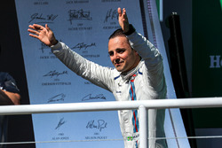 Felipe Massa, Williams celebrates his last Brazilian race on the podium