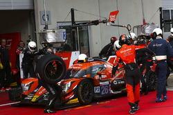 #26 G-Drive Racing Oreca 07 - Gibson: Roman Rusinov, Andrea Pizzitola, Jean-Eric Vergne, dans les stands