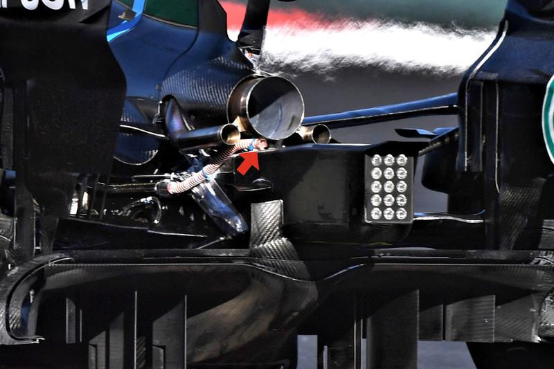 Mercedes F1 W09, вид сзади