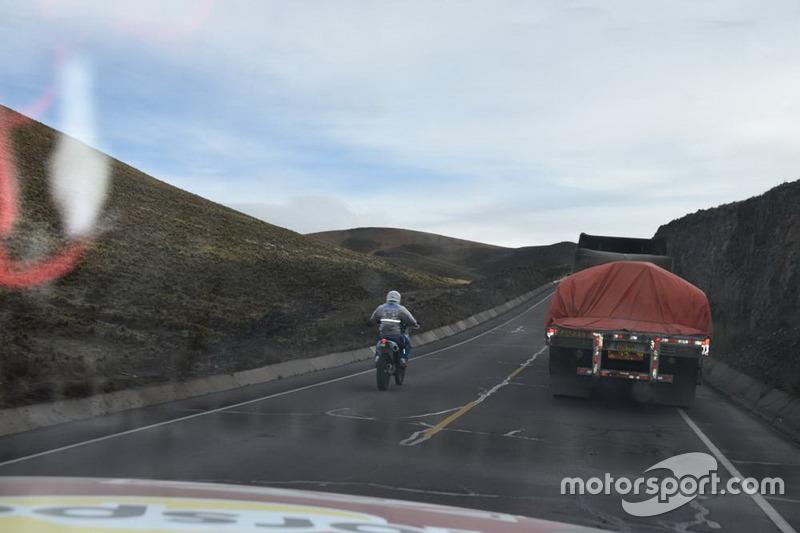 Piloto en la etapa entre Arequipa a La paz