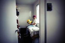Lewis Hamilton, Mercedes-Benz con el casco de Ayrton Senna