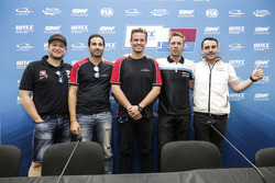 Press Conference, Rob Huff, All-Inkl Motorsport, Citroën C-Elysée WTCC, Mehdi Bennani, Sébastien Loeb Racing, Citroën C-Elysée WTCC, Tom Chilton, Sébastien Loeb Racing, Citroën C-Elysée WTCC, Thed Björk, Polestar Cyan Racing, Volvo S60 Polestar TC1, Norbert Michelisz, Honda Racing Team JAS, Honda Civic WTCC