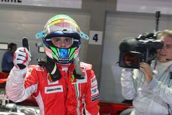 Il poleman Felipe Massa, Ferrari F2008