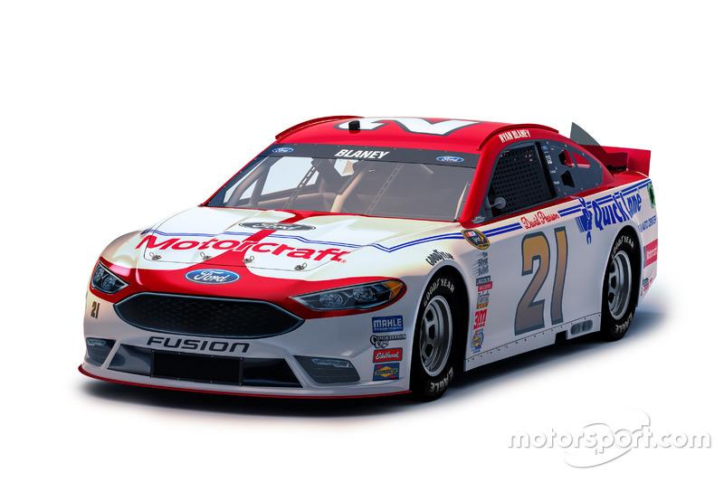 Throwback-Design von Ryan Blaney, Wood Brothers Racing, Ford