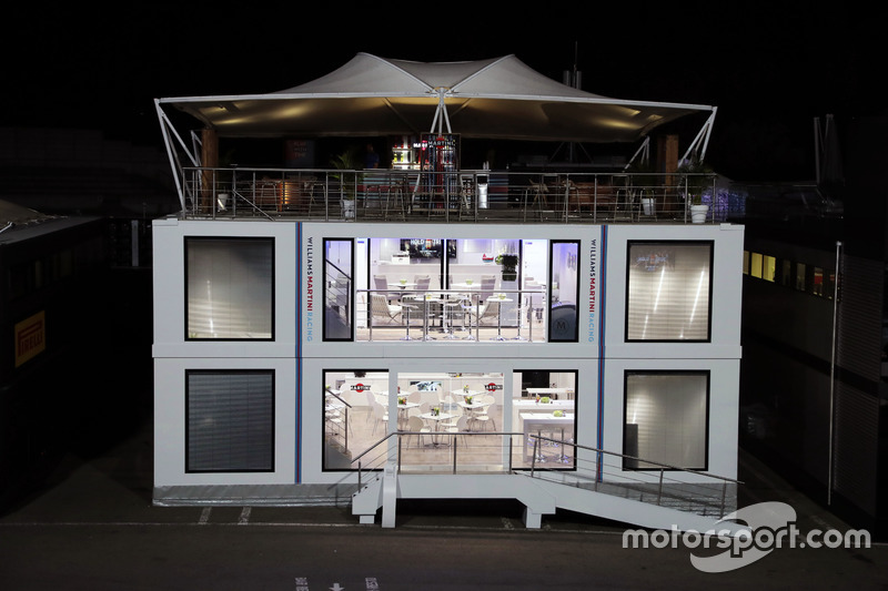 Williams motorhome at night