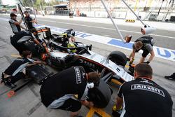 Sergio Pérez, Sahara Force India F1 VJM09 con la cubierta de la cabina Halo