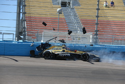 James Hinchcliffe, Schmidt Peterson Motorsports Honda dans le mur