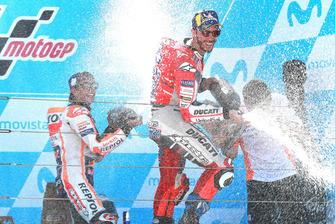 Podium: race winner Marc Marquez, Repsol Honda Team, second place Andrea Dovizioso, Ducati Team