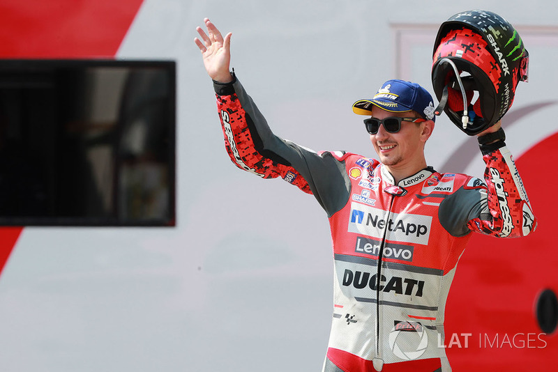 Podium: second place Jorge Lorenzo, Ducati Team