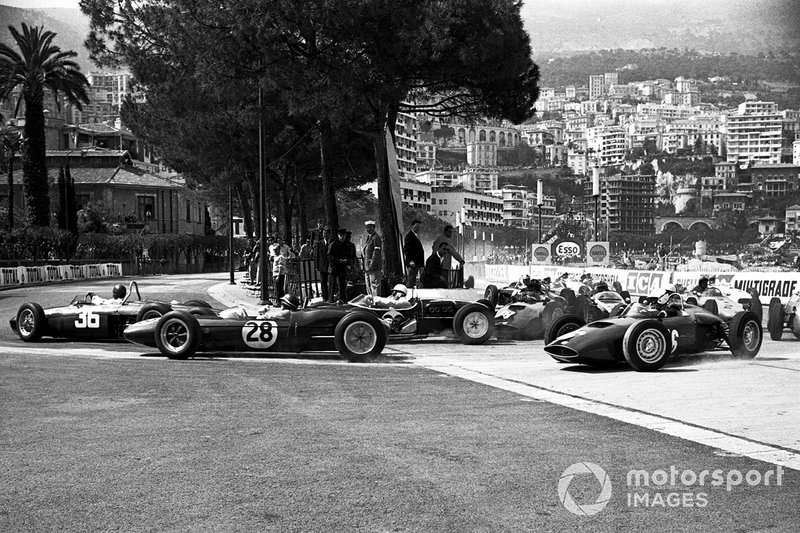 Richie Ginther, Ferrari, Jim Clark, Lotus 21, Stirling Moss, Lotus 18