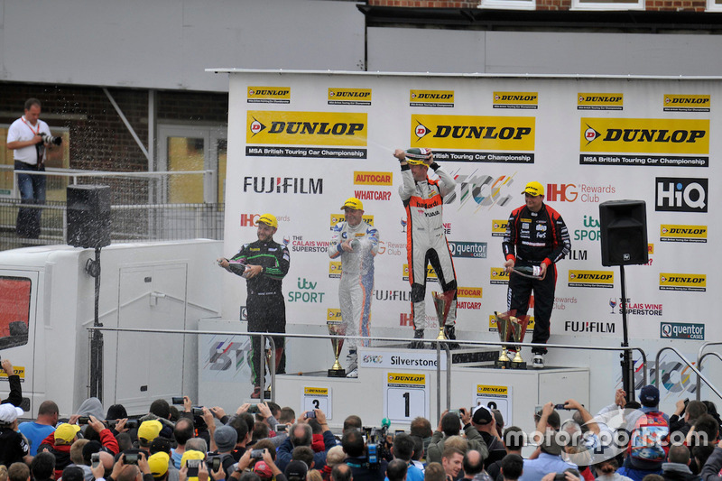 Race three podium