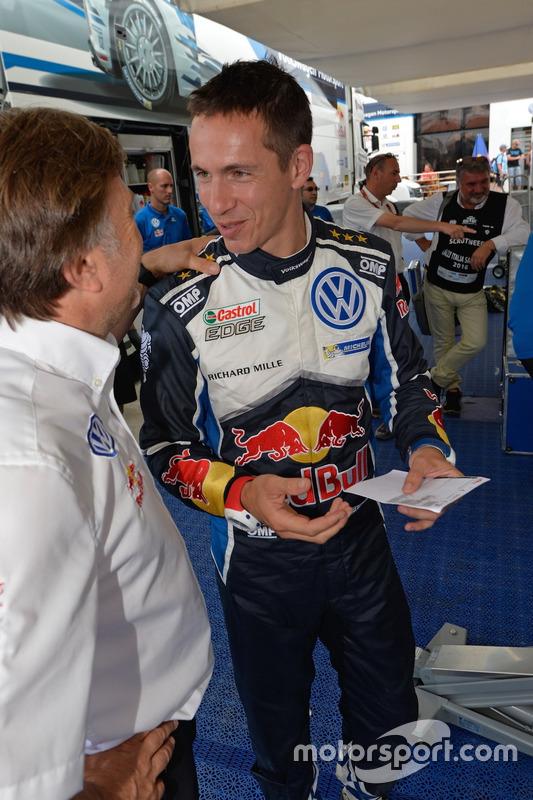 Jost Capito, Volkswagen-Sportchef, mit Julien Ingrassia, Volkswagen Motorsport