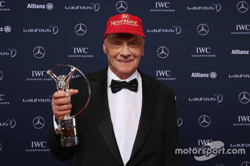Niki Lauda, Mercedes Non-Executive Chairman with the lifetime achievement award