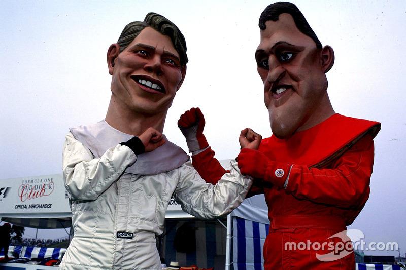 Titelkandidaten sind Mika Hakkinen und Michael Schumacher