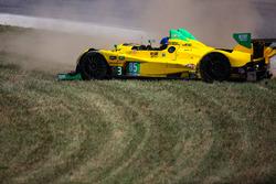 Crash of #63 Scuderia Corsa Ferrari 488 GT3: Christina Nielsen, Alessandro Balzan and #85 JDC/Miller Motorsports ORECA FLM09: Mikhail Goikhberg, Stephen Simpson