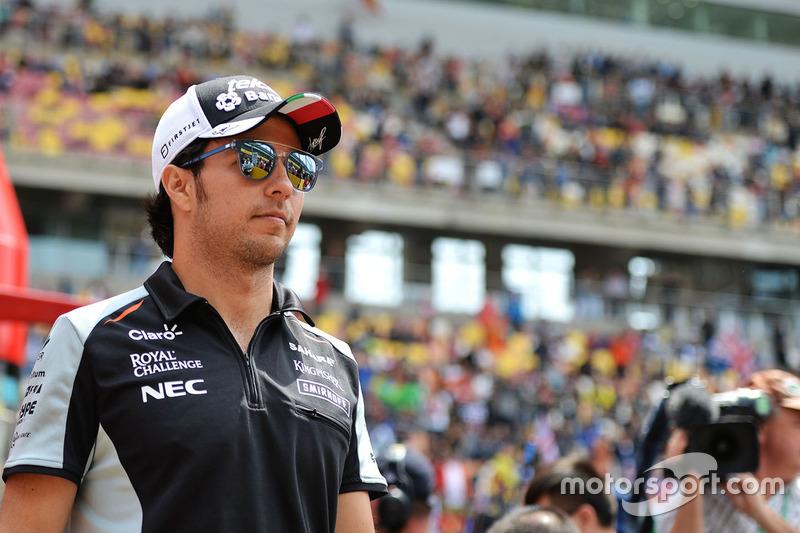 Sergio Perez, Sahara Force India F1 en el desfile de pilotos
