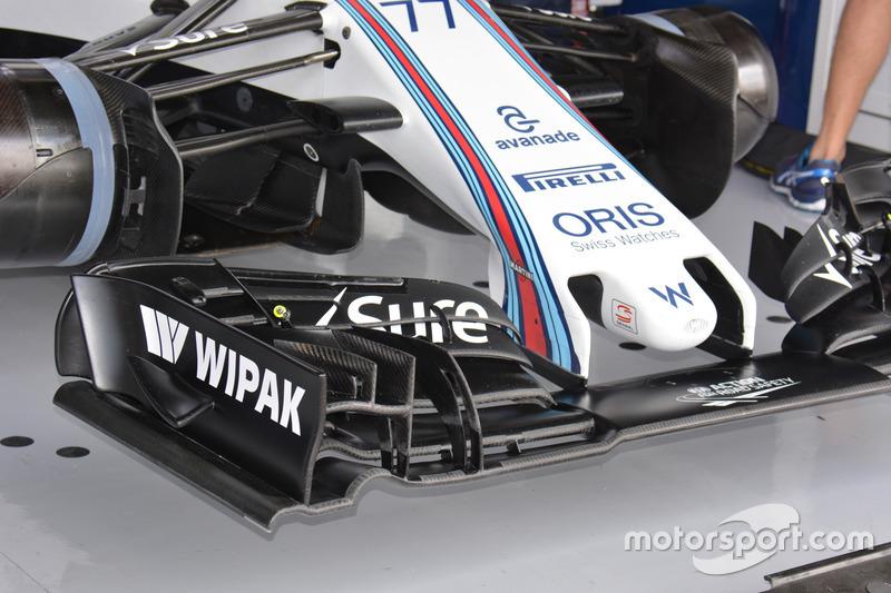 Williams FW38: Frontflügel und Nase