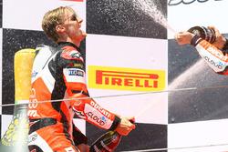 Podium: race winner Chaz Davies, Ducati Team