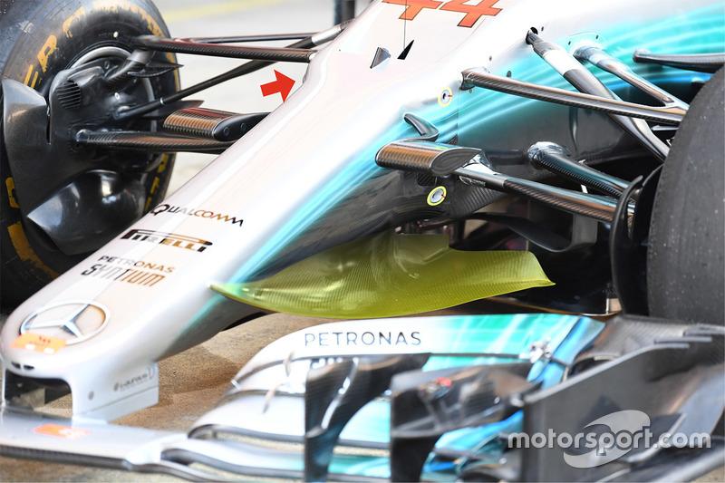 Mercedes AMG F1 W08, detalle delantero