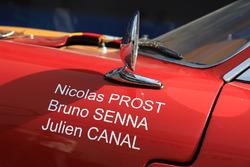 Julien Canal, Bruno Senna, Nicolas Prost, Rebellion Racing vintage car