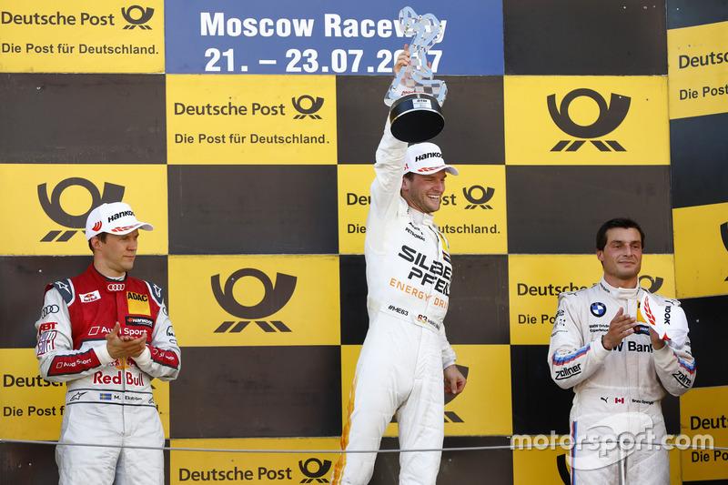 Подіум: Маро Енгель, Mercedes-AMG Team HWA, Mercedes-AMG C63 DTM, друге місце Маттіас Екстроьм, Audi Sport Team Abt Sportsline, Audi A5 DTM, третє місце Бруно Спенглер, BMW Team RBM, BMW M4 DTM