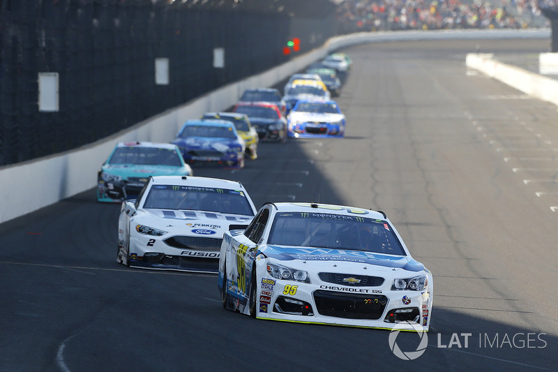 Michael McDowell, Leavine Family Racing Chevrolet, Brad Keselowski, Team Penske Ford