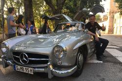 Roberto Chinchero con la Mercedes 300 SL
