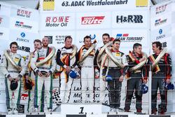 Podium: 1. #911 Manthey Racing, Porsche 911 GT3 R: Romian Dumas, Frédéric Makowiecki, Patrick Pilet; 2. #38 Bentley Team Abt, Bentley Continental GT3: Christer Jöns, Christopher Brück, Jordan Pepper; 3. #28 Audi Sport Team Land Motorsport; Christopher Mies
