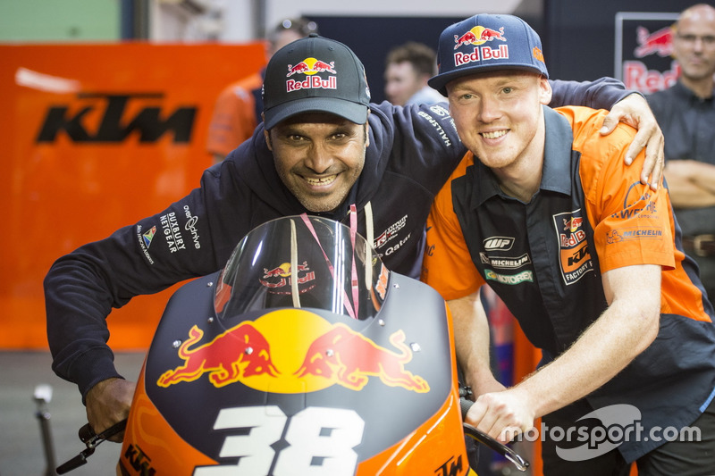 Nasser Al-Attiyah with Bradley Smith, Red Bull KTM Factory Racing