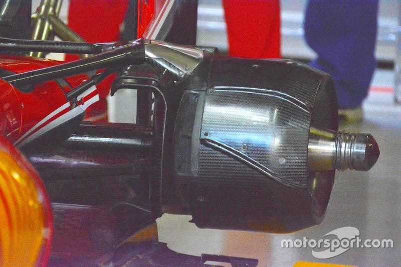 Sebastian Vettel, Ferrari SF16-H, brake detail