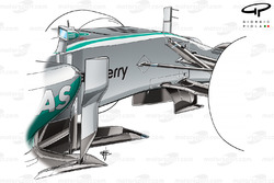 Mercedes W05 conjoined lower wishbone