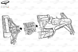 Benetton B191 1991 exploded overview