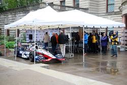 The car of Graham Rahal, Rahal Letterman Lanigan Racing Honda