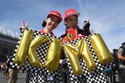 Des fans de Kimi Raikkonen, Ferrari avec une bannière