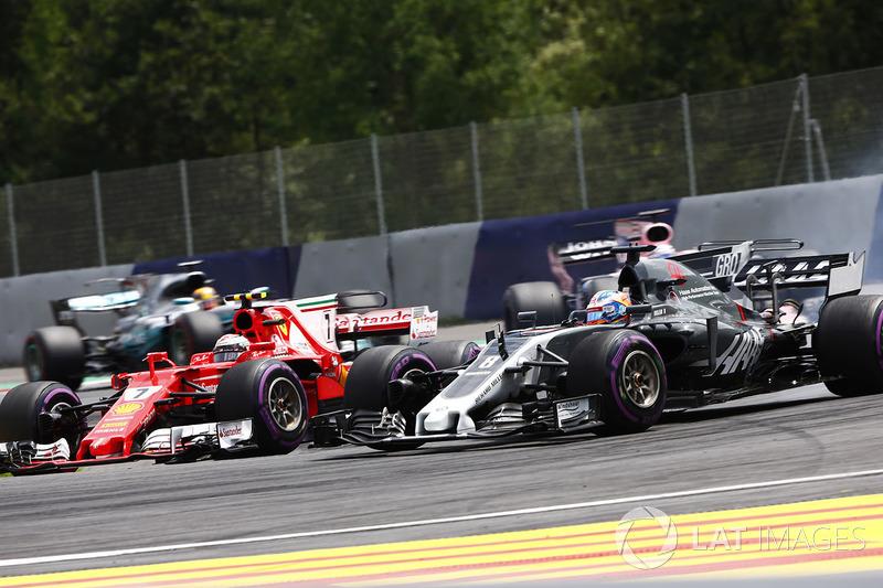 Кими Райкконен, Ferrari SF70H, Ромен Грожан, Haas F1 Team VF-17, Серхио Перес, Sahara Force India F1 VJM10, Льюис Хэмилтон, Mercedes AMG F1 W08