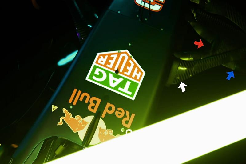Détails de la suspension de la Red Bull Racing RB13