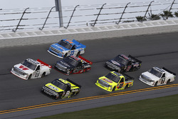 Timothy Peters, Red Horse Racing Toyota, John Hunter Nemechek, SWM-NEMCO Motorsports Chevrolet