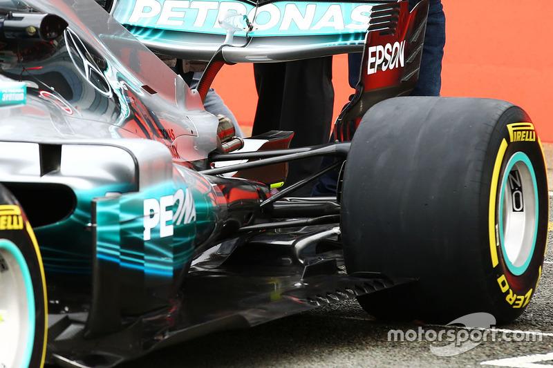 Mercedes AMG F1 W08, задняя часть машины