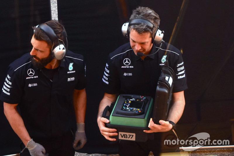 Le volant de Valtteri Bottas, Mercedes AMG F1 W08