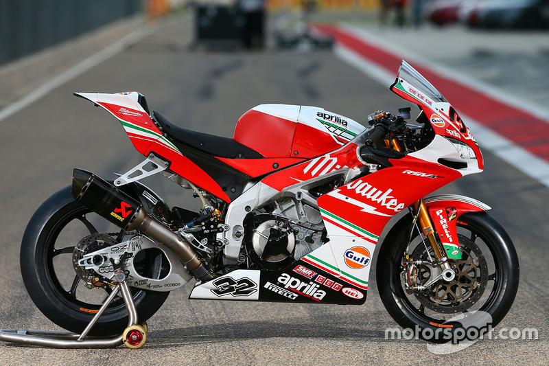 Moto de Julian Simon, Milwaukee Aprilia World Superbike Team