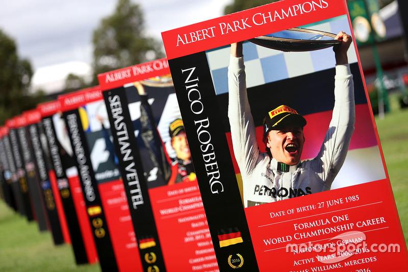 Schild für Nico Rosberg