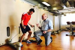 Davide Rigon in allenamento con Emiliano Maraldi
